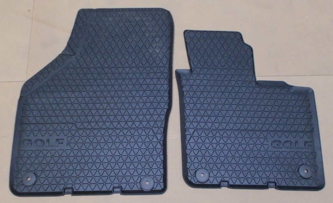 Genuine Vw Golf Plus 5m Front Rubber Floor Mats Set Round Stud Fixings